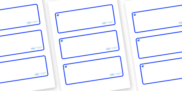 Sapphire Themed Editable Drawer-Peg-Name Labels (Blank) - Themed Classroom Label Templates, Resource Labels, Name Labels, Editable Labels, Drawer Labels, Coat Peg Labels, Peg Label, KS1 Labels, Foundation Labels, Foundation Stage Labels, Teaching Lab