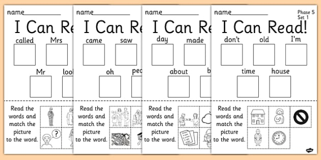 I Can Read Phase 5 Activity Sheets Resource Pack - phase 5, pack, worksheet