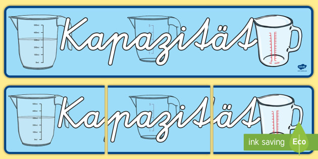 Kapazität Banner für die Klassenraumgestaltung - Kapazität Banner für die Klassenraumgestaltung, Kapazität, Klassenraumgestaltung, Inhalt, Banner,