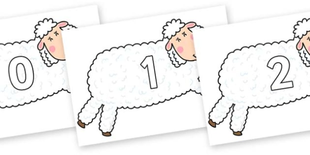 Numbers 0-100 on Hullabaloo Sheep to Support Teaching on Farmyard Hullabaloo - 0-100, foundation stage numeracy, Number recognition, Number flashcards, counting, number frieze, Display numbers, number posters
