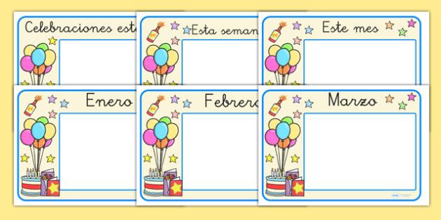 Pósters de calendario - Festividades y celebraciones - cumplir, años, exposición, calendario, palabras, fiestas, nacionales, locales, festividades