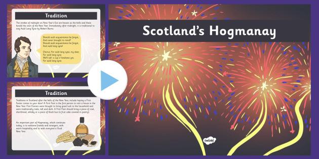 Scotland's Hogmanay Presentation - cfe, scotland, homanay, presentation, powerpoint