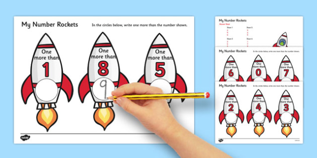 My Number Rockets One More - numbers, rockets, space, counting