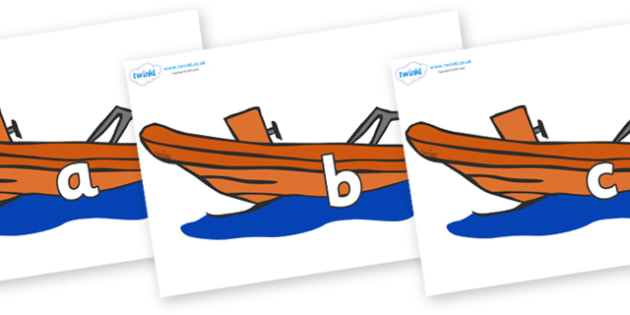 Phase 2 Phonemes on Lifeboats - Phonemes, phoneme, Phase 2, Phase two, Foundation, Literacy, Letters and Sounds, DfES, display