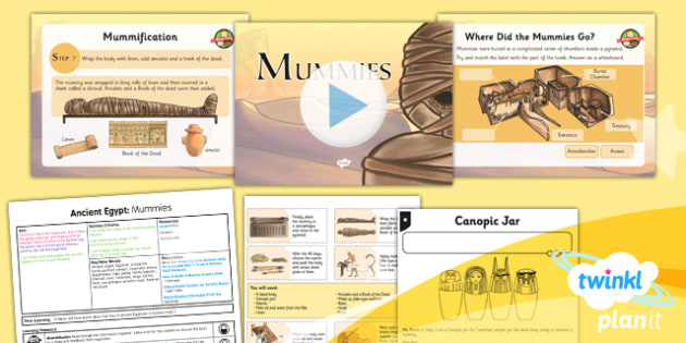 History: Ancient Egypt: Mummies UKS2 Lesson Pack 3