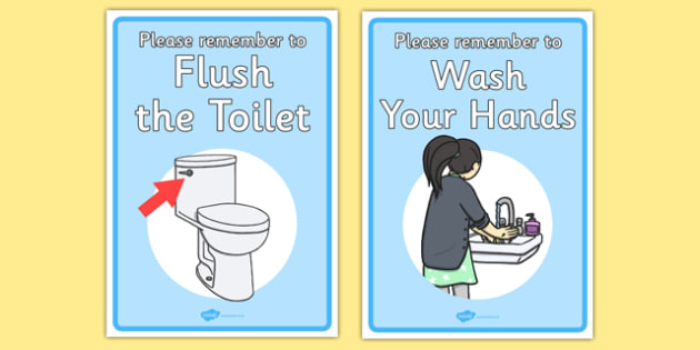 Bathroom Signs For Kindergarten signs for the toilet - toilet sign, wash your hands, sign
