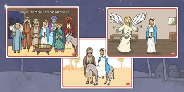 Karty do sekwencjonowania Historia Bożonarodzeniowa po polsku