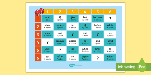 Years 3 and 4 Grammar: Conjunction Challenge  Game