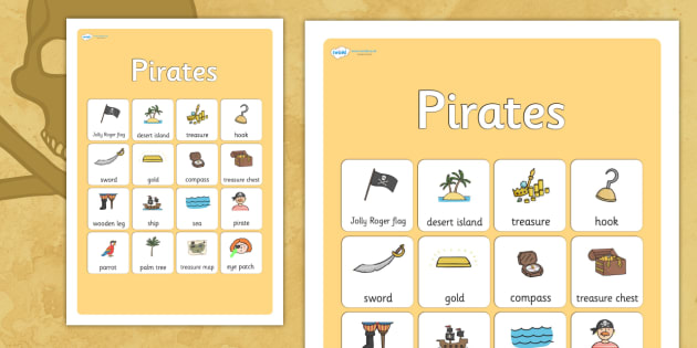 Pirates Vocabulary Poster - pirates, vocabulary, vocabulary poster, pirates poster, display poster, poster for display, classroom display, posters, display