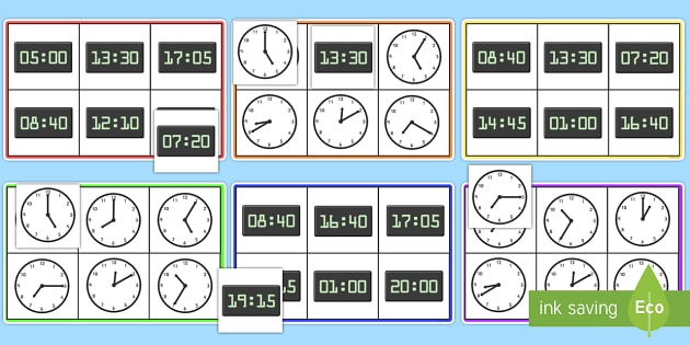 Analogue And Digital Times Bingo - analogue and digital, bingo, time, analogue, digital, times, game, fun, activity, different, what time is it, hour, minute, second, day