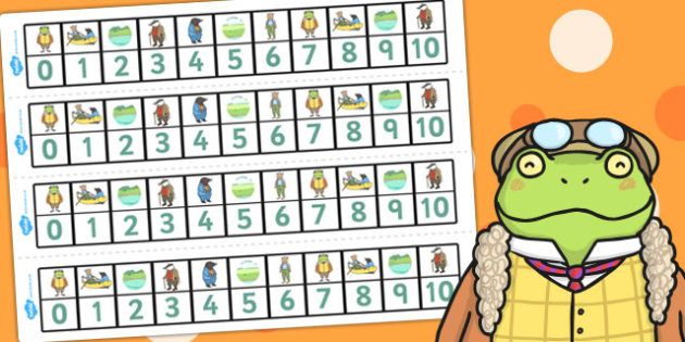 The Wind in the Willows Number Track 0 10 - numeracy, numbers