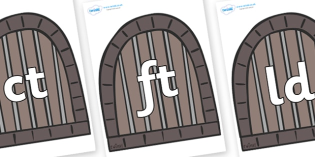 Final Letter Blends on Jail Cells - Final Letters, final letter, letter blend, letter blends, consonant, consonants, digraph, trigraph, literacy, alphabet, letters, foundation stage literacy