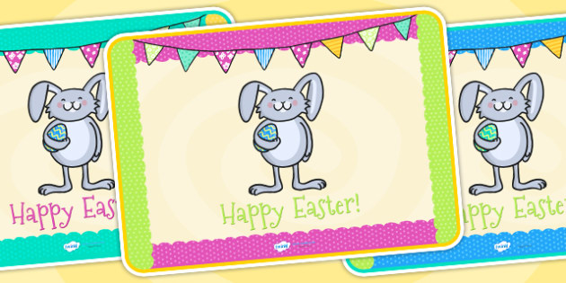 Easter Party Place Mats - easter, easter party, place mats, party