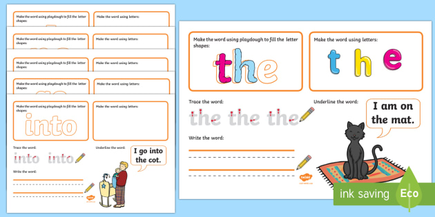 Phase 2 Tricky Words Make Read Write Activity Mats - EYFS Phonics Make, Read and Write Activity Mats, Letters and Sounds, Phase 2, phonics, letter sounds - EYFS Phonics Make, Read and Write Activity Mats, Letters and Sounds, Phase 2, phonics, le