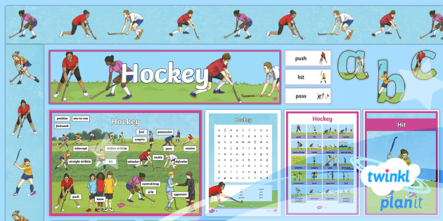 PlanIt - PE Year 4 - Hockey Additional Resources - Hockey, display, keywords, PE, Physical Education, sport, invasion games, attacker, defender, exerci