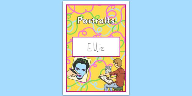Portraits Book Cover - portraits, book cover, book, cover, painting, art, design