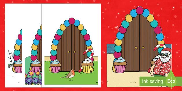 Elf Door Cut-Outs - Priority Resources, christmas, santa, elf doors, cutouts, xmas, cut outs