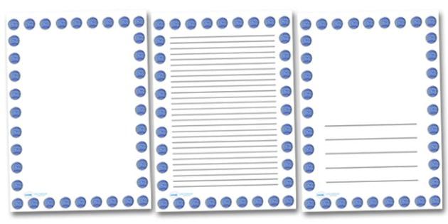 Neptune Portrait Page Borders- Portrait Page Borders - Page border, border, writing template, writing aid, writing frame, a4 border, template, templates, landscape
