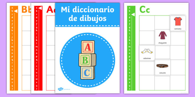 Picture Dictionary Clothes Word Cards Pack Spanish-Spanish