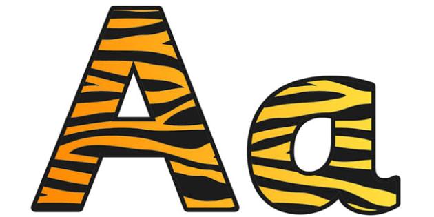 Tiger Pattern Display Lettering (Small) - safari, safari lettering, safari display lettering, tiger lettering, tiger pattern lettering, tiger pattern