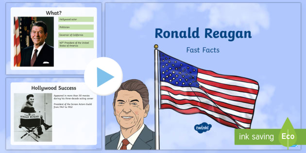 Ronald Reagan Fast Facts PowerPoint - American Presidents, American History, Social Studies, Barack Obama, Lyndon B. Johnson, Franklin D.
