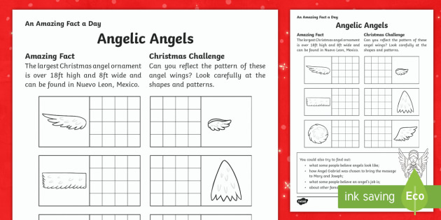 Angelic Angels Activity Sheet - Amazing Fact Of The Day, activity sheets, PowerPoint, starter, morning activity, December, Christmas