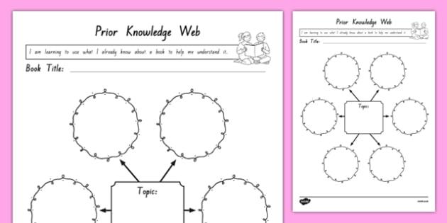 Prior Knowledge Web Activity Sheet, worksheet
