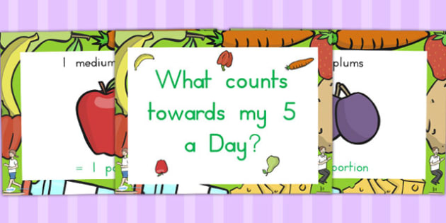 What Counts Towards My 5 a Day PowerPoint - health, fruit, veg