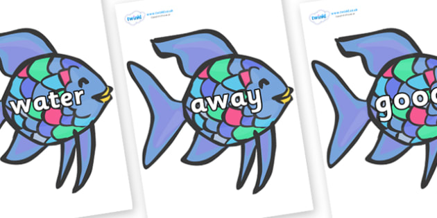 Next 200 Common Words on Rainbow Fish to Support Teaching on The Rainbow Fish - Next 200 Common Words on  - DfES Letters and Sounds, Letters and Sounds, Letters and sounds words, Common words, 200 common words