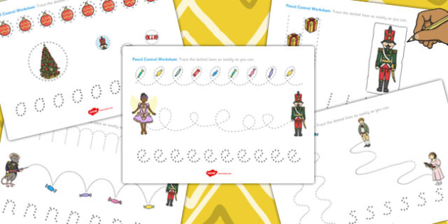 The Nutcracker Pencil Control Sheets - nutcracker, control, sheet