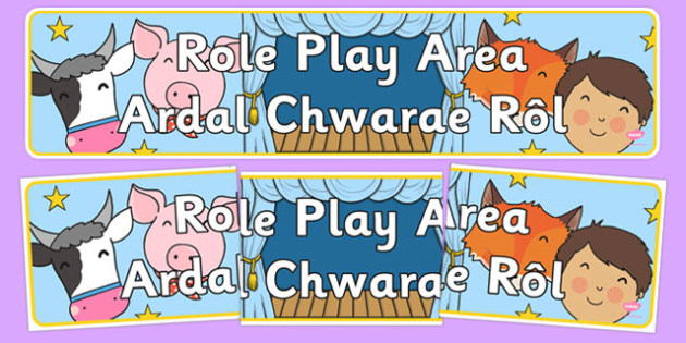 Role Play Area Sign Welsh Translation - welsh, cymraeg, Foundation Phase, Role Play Area, Display, Banner