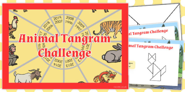 Chinese New Year Tangram Challenge Cards - australia, tangram