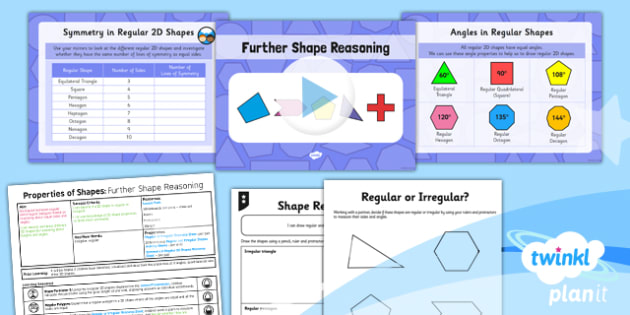 PlanIt Y5 Properties of Shapes Lesson Pack Regular and Irregular Polygons (2) - Properties of Shapes, regular, irregular, 2D shapes, geometric shapes, shape reasoning
