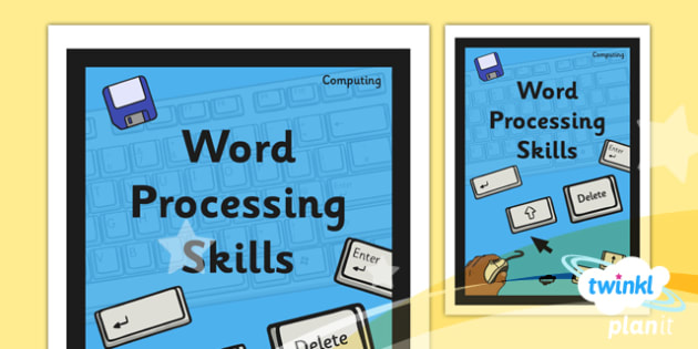 Computing: Word Processing Skills Year 1 Unit Book Cover