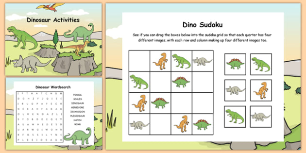 Dinosaur Themed Notebook Activity Pack - dinosaur, notebook