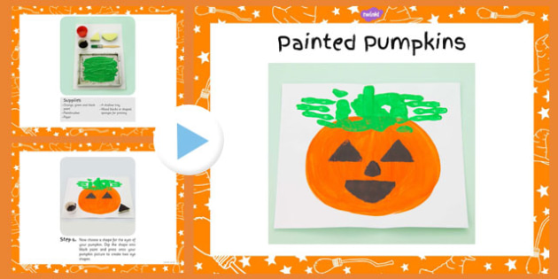Painted Pumpkins Craft Instructions PowerPoint - painted, pumpkins, craft, powerpoint, instructions, halloween