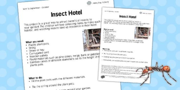 Insect Hotel Worksheet - insect hotel, worksheet, work, sheet