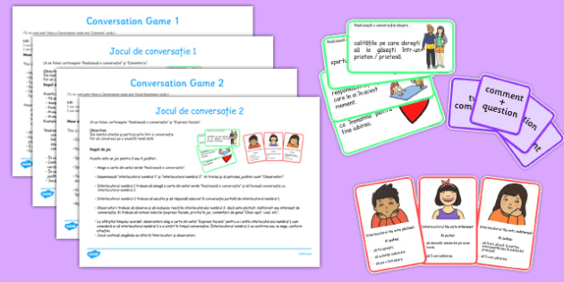 Conversation Game Pack Romanian Translation - romanian, conversation game, pack, game, conversation