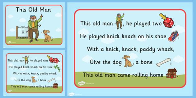This Old Man Nursery Rhyme PowerPoint - Powerpoints, Rhymes