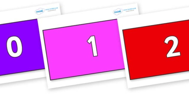 Numbers 0-31 on Rectangles - 0-31, foundation stage numeracy, Number recognition, Number flashcards, counting, number frieze, Display numbers, number posters