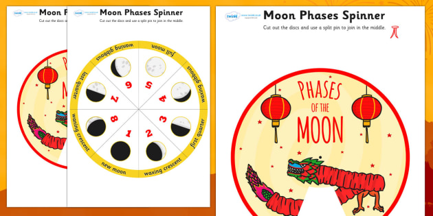 Chinese New Year Themed Phases of the Moon Visual Aid - new year