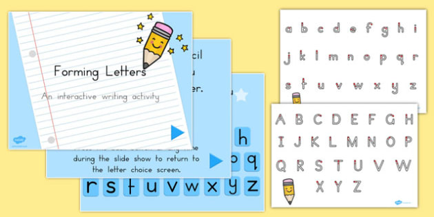 Letter Formation and PowerPoint Pack - australia, letter, formation, pack