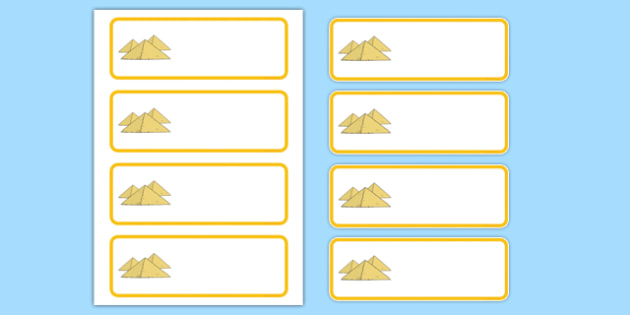 Ancient Egypt Themed Editable Labels - ancient egypt, ancient, egypt, editable, labels