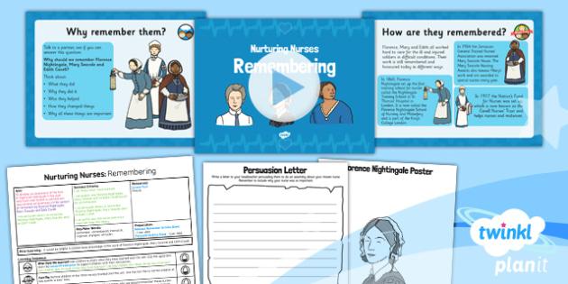 PlanIt - History KS1 - Nurturing Nurses Lesson 6: Remembering Lesson Pack
