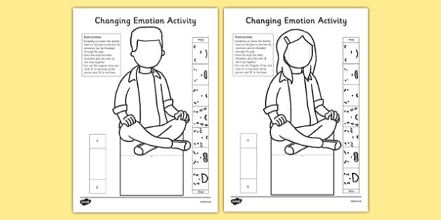 Changing Emotion Activity - changing emotion, activity, change, emotion