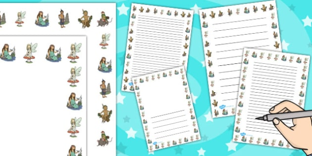 Mythical Woodland Creatures Page Borders - border, creature
