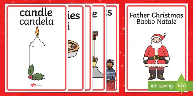 Christmas Display Posters English/Italian - Christmas Display Posters - display, posters, christmas, xmas, christmas display posters, christmas