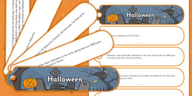 Halloween Facts Fan Book - halloween, facts, fan book, fan, book