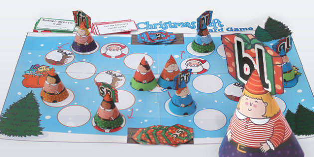 Phase 4 Blends Christmas Board Game - Games, Activities, Activity