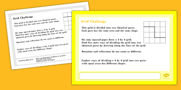 Grid Maths Challenge A4 Display Posters - challenge, posters
